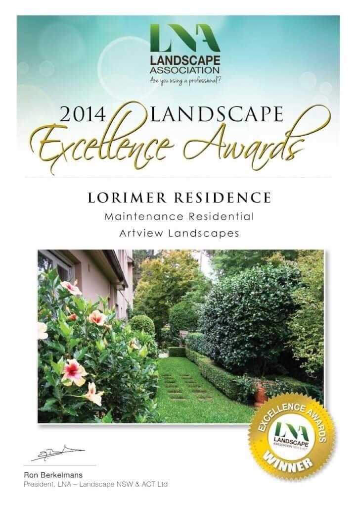 LNA Landscape Excellence Award Winners 2014