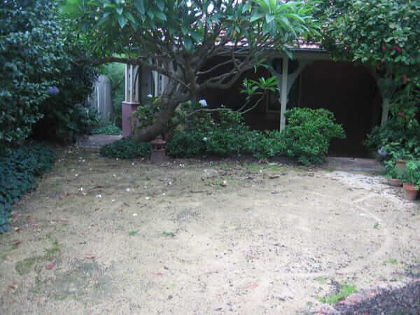 garden before pavement